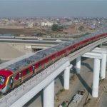 لاہور میں پاکستان کی پہلی میٹرو ٹرین کا ٹرائل رن