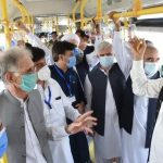 Prime Minister Imran Khan inaugurated the BRT project in Peshawar today