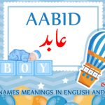 Aabid Name Meaning in English and Urdu